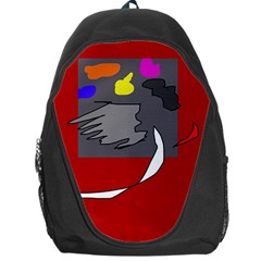 Red abstraction by Moma Backpack Bag