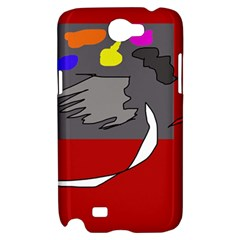 Red abstraction by Moma Samsung Galaxy Note 2 Hardshell Case