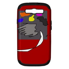 Red abstraction by Moma Samsung Galaxy S III Hardshell Case (PC+Silicone)