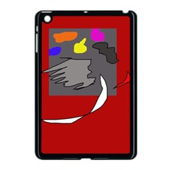 Red abstraction by Moma Apple iPad Mini Case (Black)