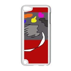 Red abstraction by Moma Apple iPod Touch 5 Case (White)