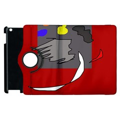 Red abstraction by Moma Apple iPad 2 Flip 360 Case