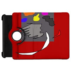 Red abstraction by Moma Kindle Fire HD Flip 360 Case