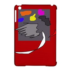 Red abstraction by Moma Apple iPad Mini Hardshell Case (Compatible with Smart Cover)