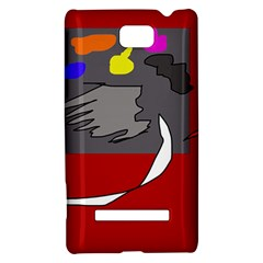 Red abstraction by Moma HTC 8S Hardshell Case
