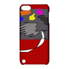 Red abstraction by Moma Apple iPod Touch 5 Hardshell Case with Stand