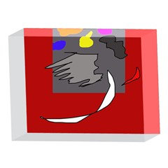 Red abstraction by Moma 5 x 7  Acrylic Photo Blocks