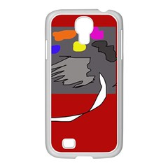 Red abstraction by Moma Samsung GALAXY S4 I9500/ I9505 Case (White)