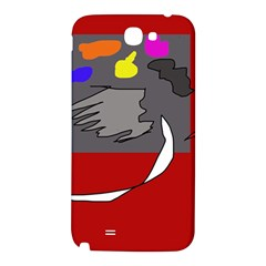 Red abstraction by Moma Samsung Note 2 N7100 Hardshell Back Case