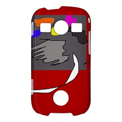 Red abstraction by Moma Samsung Galaxy S7710 Xcover 2 Hardshell Case