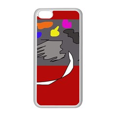 Red abstraction by Moma Apple iPhone 5C Seamless Case (White)