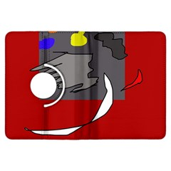 Red abstraction by Moma Kindle Fire HDX Flip 360 Case