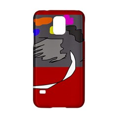 Red abstraction by Moma Samsung Galaxy S5 Hardshell Case