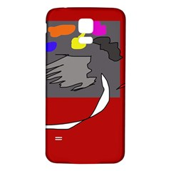 Red abstraction by Moma Samsung Galaxy S5 Back Case (White)
