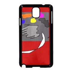 Red abstraction by Moma Samsung Galaxy Note 3 Neo Hardshell Case (Black)