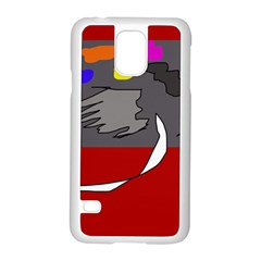 Red abstraction by Moma Samsung Galaxy S5 Case (White)