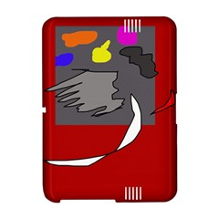 Red abstraction by Moma Amazon Kindle Fire (2012) Hardshell Case