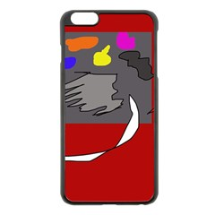 Red abstraction by Moma Apple iPhone 6 Plus/6S Plus Black Enamel Case