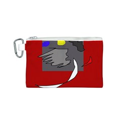 Red abstraction by Moma Canvas Cosmetic Bag (S)