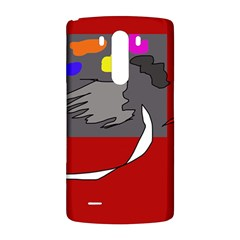 Red abstraction by Moma LG G3 Back Case