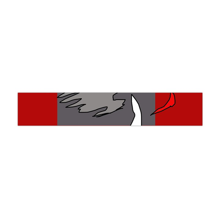 Red abstraction by Moma Flano Scarf (Mini)