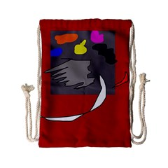 Red abstraction by Moma Drawstring Bag (Small)