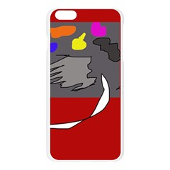 Red abstraction by Moma Apple Seamless iPhone 6 Plus/6S Plus Case (Transparent)