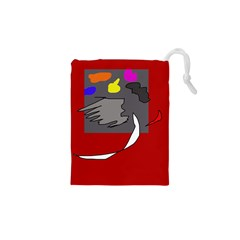 Red abstraction by Moma Drawstring Pouches (XS)