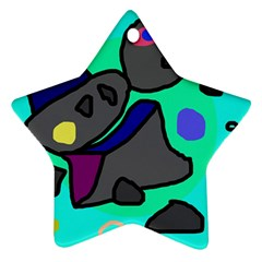 Blue comic abstract Ornament (Star)