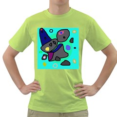 Blue comic abstract Green T-Shirt