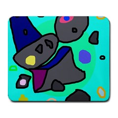 Blue comic abstract Large Mousepads