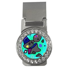 Blue comic abstract Money Clips (CZ)