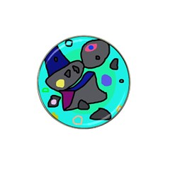 Blue Comic Abstract Hat Clip Ball Marker
