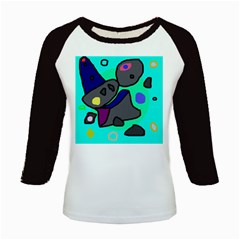 Blue comic abstract Kids Baseball Jerseys