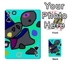 Blue comic abstract Playing Cards 54 Designs