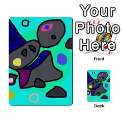 Blue comic abstract Multi-purpose Cards (Rectangle)