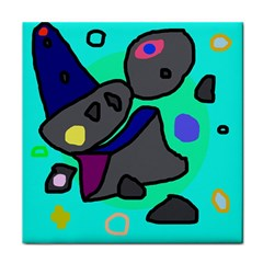 Blue comic abstract Face Towel