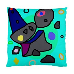 Blue comic abstract Standard Cushion Case (One Side)