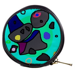 Blue comic abstract Mini Makeup Bags