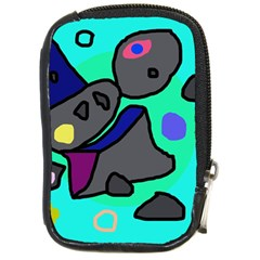 Blue comic abstract Compact Camera Cases