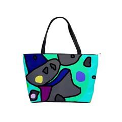 Blue comic abstract Shoulder Handbags