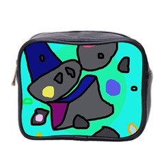 Blue comic abstract Mini Toiletries Bag 2-Side
