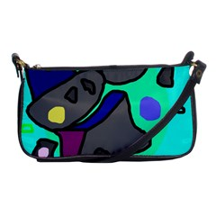 Blue comic abstract Shoulder Clutch Bags