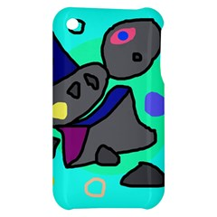 Blue comic abstract Apple iPhone 3G/3GS Hardshell Case