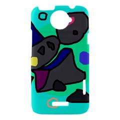 Blue comic abstract HTC One X Hardshell Case