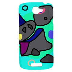 Blue comic abstract HTC One S Hardshell Case