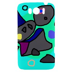 Blue comic abstract HTC Sensation XL Hardshell Case
