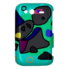 Blue comic abstract HTC Wildfire S A510e Hardshell Case