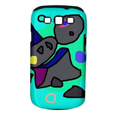 Blue comic abstract Samsung Galaxy S III Classic Hardshell Case (PC+Silicone)
