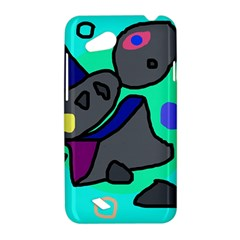 Blue comic abstract HTC Desire VC (T328D) Hardshell Case